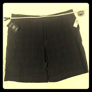 **NWT**IZOD men sz 42 classic linen cotton shorts